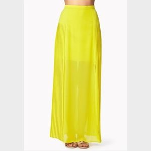 Forever 21 | Neon Pleated Maxi Skirt